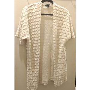 Forever 21 quilted chunky short sleeve cardigan
